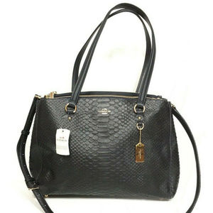 Coach Stanton Carryall Stamped Snakeskin Leather